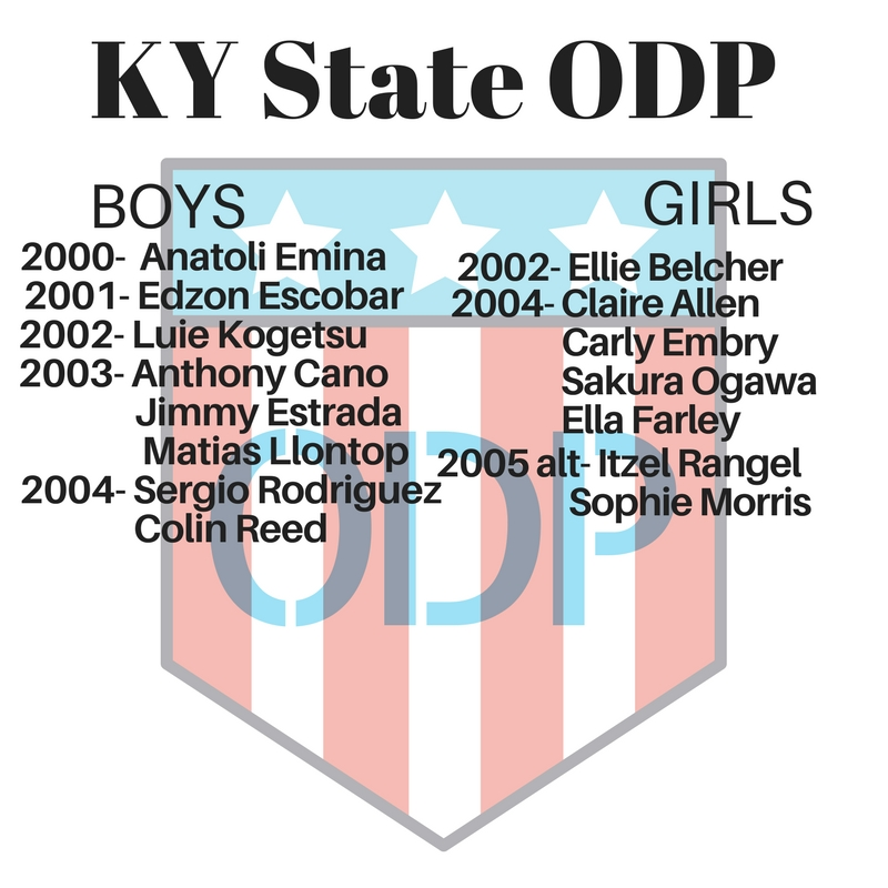 Congrats to SKY Players making KY State ODP Team!!