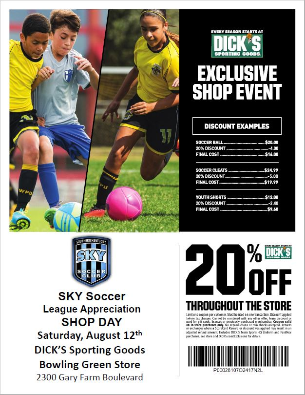 SKY Shop Day this SATURDAY AUGUST 12th.