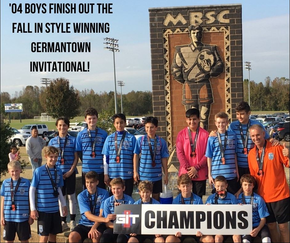 '04 Boys Finish Off Fall in Style Winning Germantown Invitational